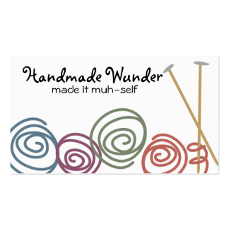 colorful yarn balls knitting needles business c... pack of standard business cards