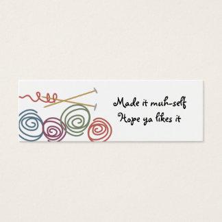 colorful yarn balls knitting needles gift tags ...