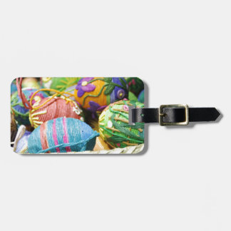 Colorful Yarn Decorated Easter Eggs Tag For Bags