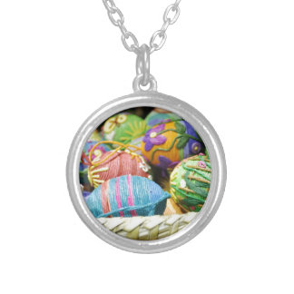 Colorful Yarn Decorated Easter Eggs Jewelry