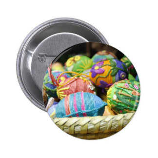 Colorful Yarn Decorated Easter Eggs Pin