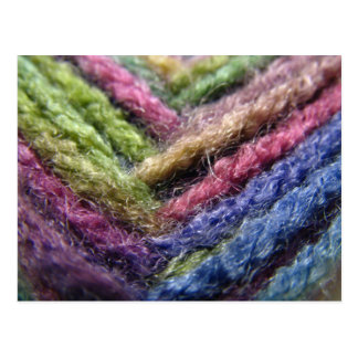 Colorful Yarn Postcard