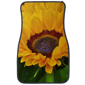 Colorful Yellow and Orange Sunflower Car Mats