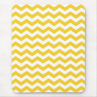 Colorful Yellow Chevron Stripes Mouse Pad