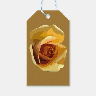 Colorful Yellow Rose Gift Tag