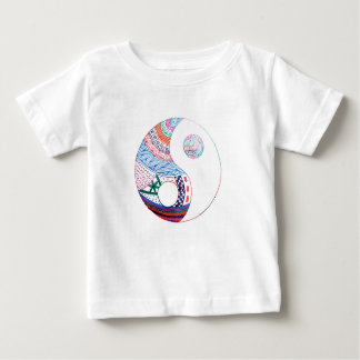 Colorful ying yang,spiritual baby T-Shirt