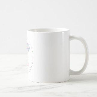 Colorful ying yang,spiritual coffee mug