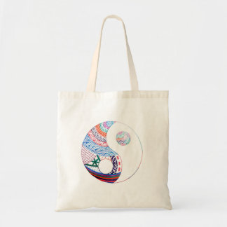 Colorful ying yang,spiritual tote bag