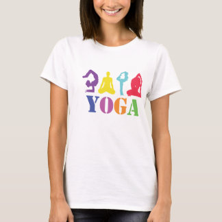 Colorful Yoga Design T-Shirt