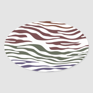 Colorful Zebra Abstract Stickers