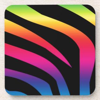 Colorful Zebra Print Gifts! Beverage Coasters
