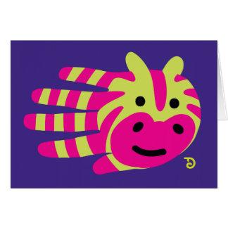 Colorful zebra stripes card