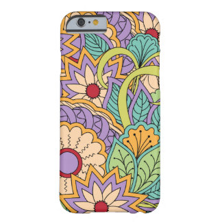 colorful zen pattern with flowers and sends them barely there iPhone 6 case
