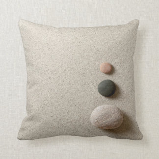 Colorful Zen Stones On Sand Background Cushion