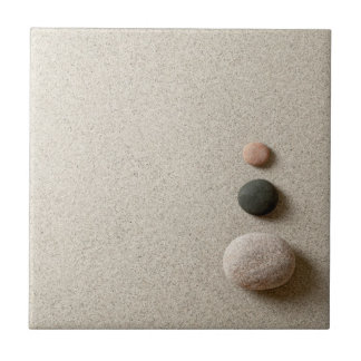 Colorful Zen Stones On Sand Background Tile
