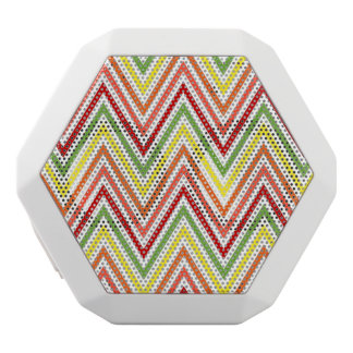 Colorful Zigzag Chevron Pattern White Boombot Rex Bluetooth Speaker