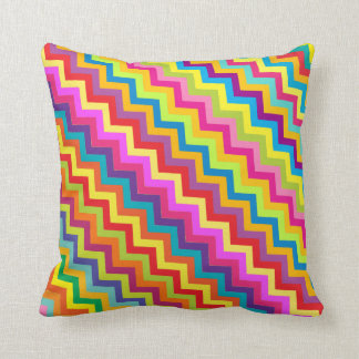 Colorful zigzag chevron patterned pillow