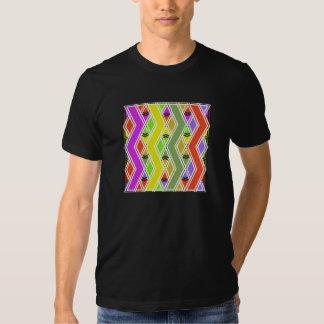Colorful Zigzag Lines Mens T-Shirt
