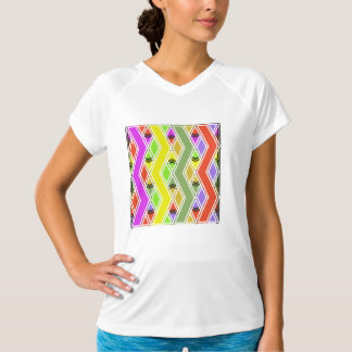 Colorful Zigzag Lines Womens Active Tee