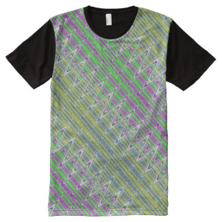 Colorful Zigzag Pattern All-Over Print T-Shirt
