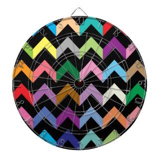 Colorful zigzag pattern dartboard