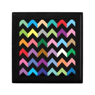 Colorful zigzag pattern gift box