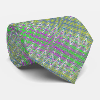 Colorful Zigzag Pattern Tie