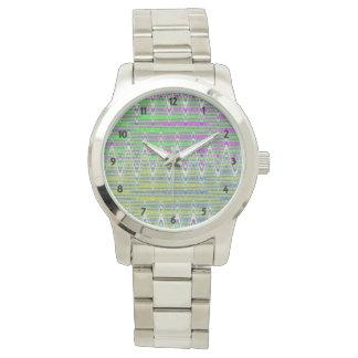 Colorful Zigzag Pattern Watch