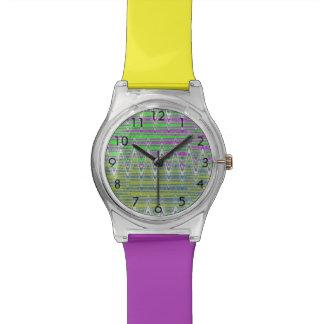 Colorful Zigzag Pattern Wristwatches