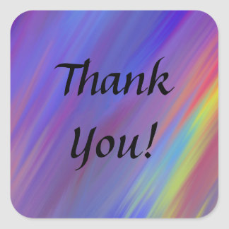 Colorful Zigzag Personalized Thank You Stickers
