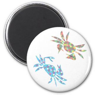colorfulcrabs 6 cm round magnet