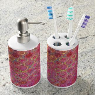 Colorfull Artistic Retro Pattern Bathroom Set