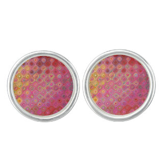 Colorfull Artistic Retro Pattern Cufflinks