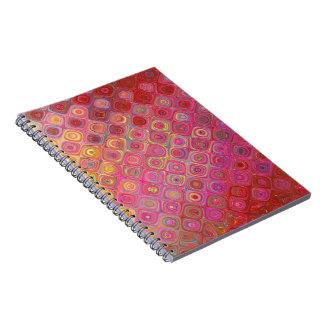Colorfull Artistic Retro Pattern Photo Notebook