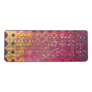 Colorfull Artistic Retro Pattern Wireless Keyboard