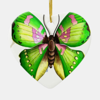 Colorfull Butterfly Ceramic Heart Decoration