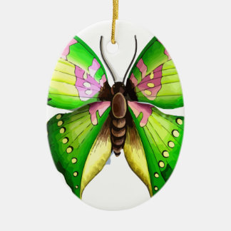 Colorfull Butterfly Ceramic Oval Decoration