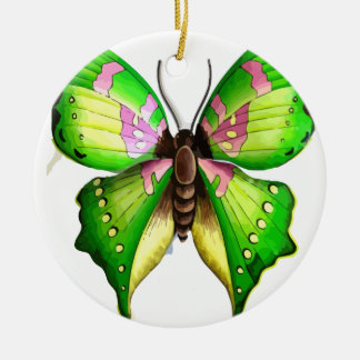 Colorfull Butterfly Round Ceramic Decoration