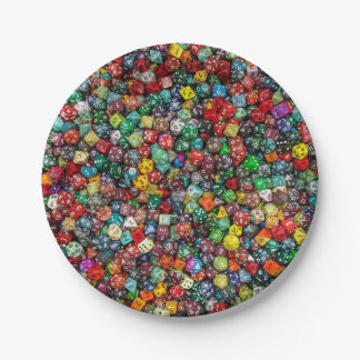 Colorfull Dice Paper Plate