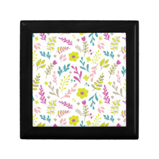 Colorfull flowers on white gift box