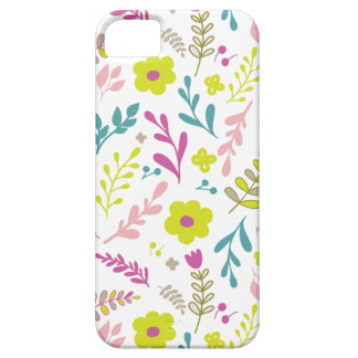 Colorfull flowers on white iPhone 5 case