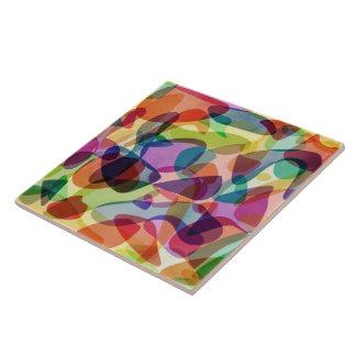 Colorfull Funky Bubbles Design Ceramic Tile