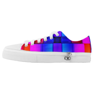 Colorfull Geometric Abstract Pattern Low Tops
