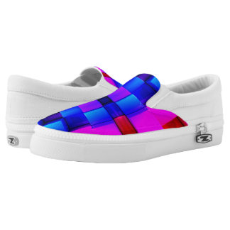 Colorfull Geometric Abstract Pattern Slip On Shoes