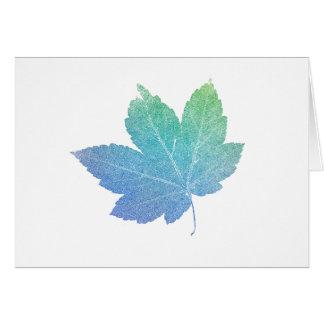 colorfull skeleton Leaf blue Card