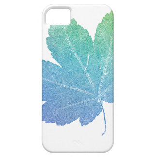 colorfull skeleton Leaf blue Case For The iPhone 5