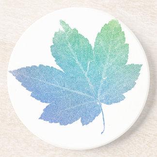colorfull skeleton Leaf blue Drink Coaster