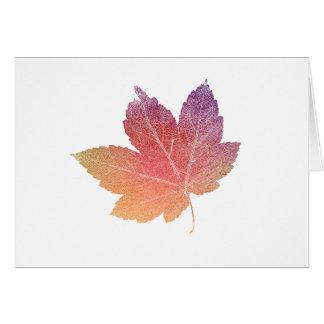 colorfull skeleton Leaf talk Card