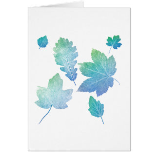 colorfull skeleton Leafs blue Card