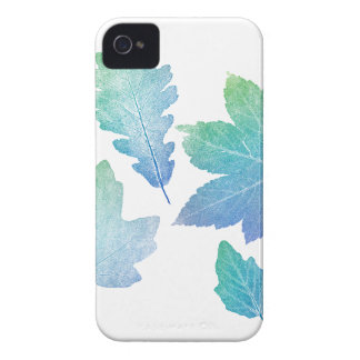 colorfull skeleton Leafs blue iPhone 4 Case